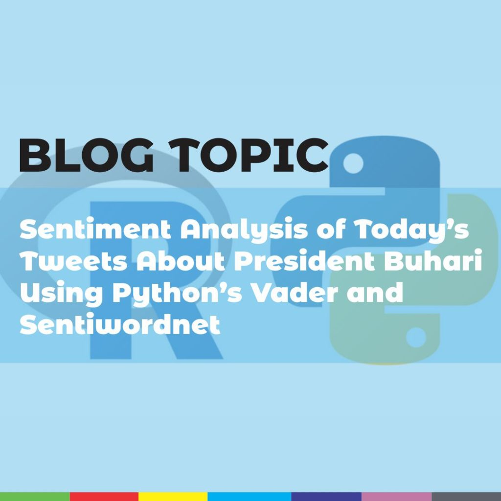 Sentiment Analysis of Today's Tweets About President Buhari Using Python's Vader and Sentiwordnet